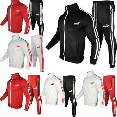 Tracksuit Full Jacket  Zip Up Top Bottoms Joggers Pants Exercise Gym Casual 2Pcs • 30.95£