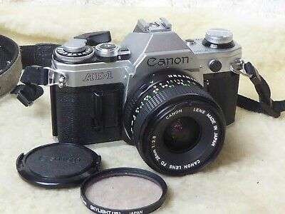 Canon AE-1 + 28mm 2.8 - V Good Condition - No 'Squeak' - New Battery. Lovely  • 189.99£