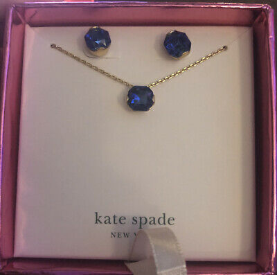 $ CDN55.39 • Buy New In Box Kate Spade New York That Sparkle Blue Necklace And Earring Set