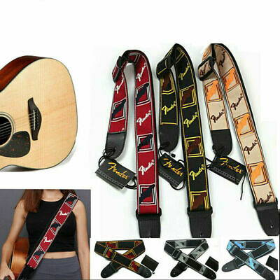 $ CDN8.83 • Buy Embroidered Guitar Strap Fender Straps For Electric Guitar Acoustic Ukulele Bass