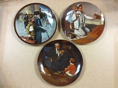 $ CDN18.99 • Buy Lot Of 3 Norman Rockwell Plates