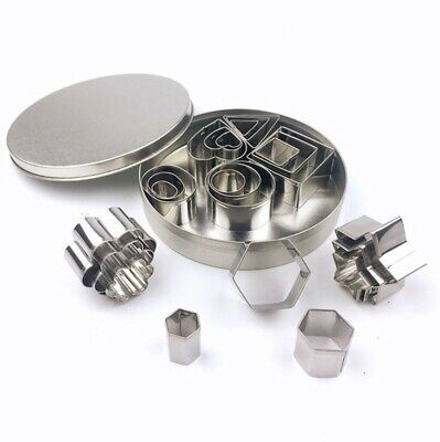 24Pcs Polymer Clay Cutter Stainless Steel DIY Cookie Baking Tool Cutting Mold • 7.99£
