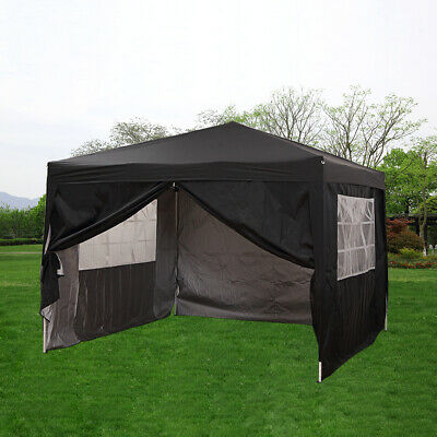 Waterproof 2.5X2.5M Pop Up Gazebo Garden Party Tent Canopy Marquee With Sides BK • 79.99£