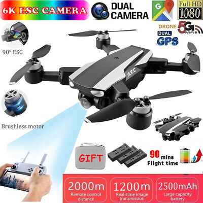 AU178.49 • Buy 5G 4K 6K Drones With HD Dual Camera With GPS WiFi Foldable Selfie RC Quadcopter