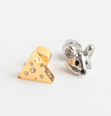 $ CDN69.26 • Buy Kate Spade Silver Year Of The Rat Mouse And Cheese Stud Earrings New