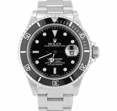 $ CDN10368.46 • Buy 2003 Men's Rolex Submariner Date 16610 40mm Black Stainless Steel Dive Watch