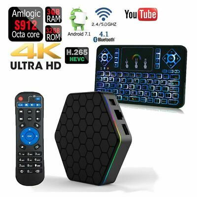 $ CDN85.61 • Buy T95Z PLUS Octa Core 32GB 3GB Android 7.1 1080p TV Box+Q9 Color Backlit Keyboard
