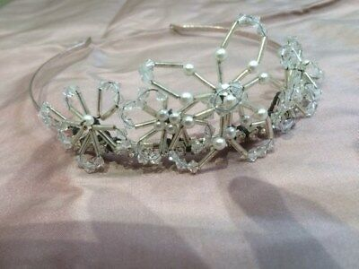 Silver/Pearls/Crystals Designer Quality Wedding Tiara, Liberty Of London In Box • 45.99£