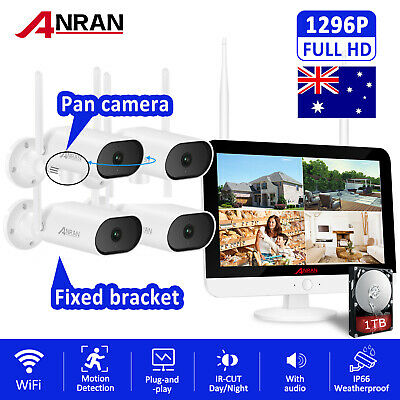 AU499.99 • Buy Wireless WIFI Outdoor CCTV Home Security Camera System Audio Record 8CH NVR 1TB