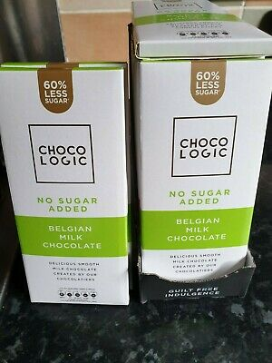 Chocologic Milk Chocolate 80g Bar 60% Less Sugar *Keto Friendly Low Carb Diet* • 2.85£