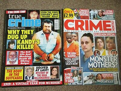 True  Crime Magazines 4 In Total In Good Condition • 2.75£