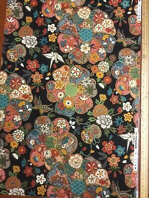 """Japanese Style Fabric 100 % Cotton Fabric 1 Mtr X 44"""" Wide • 5£"""