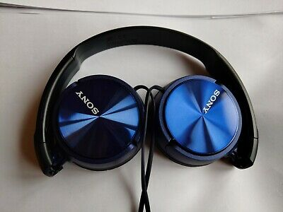 Sony MDR-ZX310 Blue Headband Headphones Tested Working Good Condition • 5£