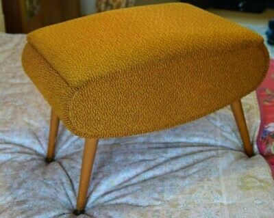 £150 • Buy Vintage 1950's Sewing Box/Stool Mustard Yellow, Great Condition Mid Century