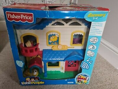 Fisher Price Little People House Playset With Sounds & Figures In Original Box • 19.99£