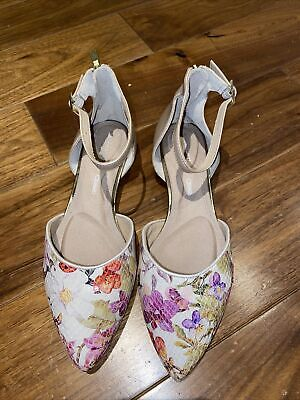 Rockport Floral Ladies Ancle Strap Pumps Size 4 In Very Good Condition Worn Once • 15£