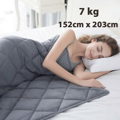 AU54.89 • Buy Weighted Blanket 152cm X 203cm Full Queen Size Reduce Pressure 7kg Glass Beads