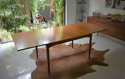 AU1100 • Buy Mid Century Dining Table Extendable Retro Vintage Parker Chiswel Style Footscra