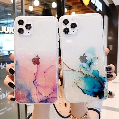 AU9.99 • Buy For IPhone12/Pro/Max/Xr/XS/11 X Marble Clear Shockproof Case Glitter Bling Cover
