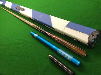 Handmade 1 Piece Ash And Ebony Snooker Cue And Case • 89.99£