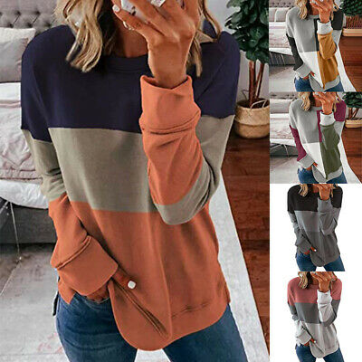 Plus Size Women Baggy Blouse Sweatshirt Ladies Long Sleeve Casual Pullover Tops • 9.66£