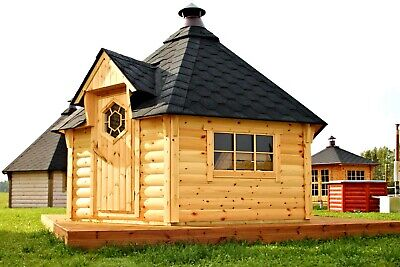 £5776.93 • Buy BBQ Hut Grill Cabin 9m² Outdoor Office, Log Style, Summer Cabin, Outdoor House