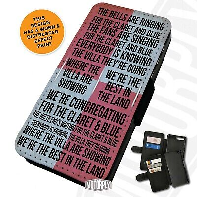 Printed Faux Leather Flip Phone Case For IPhone - Bells-Ringing-Aston-Villa • 9.75£