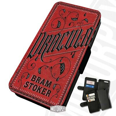 Printed Faux Leather Flip Phone Case IPhone - Dracula-Book-Cover • 9.75£