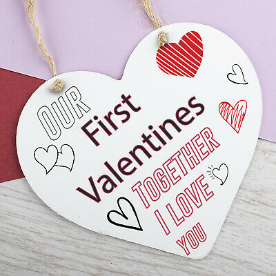 AU10.68 • Buy First Valentines Day Hanging Sign Anniversary Gift For Him Boyfriend Gifts