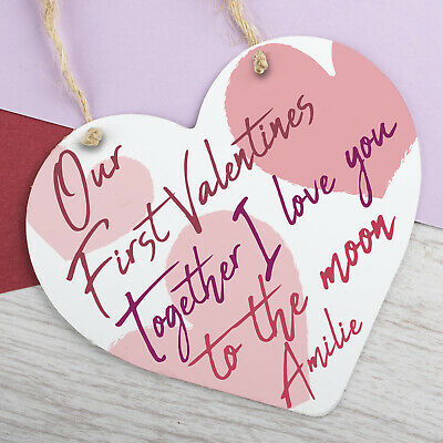 AU12.47 • Buy Personalised Valentines Day Hanging Sign Anniversary Gift For Him Gifts Plaque