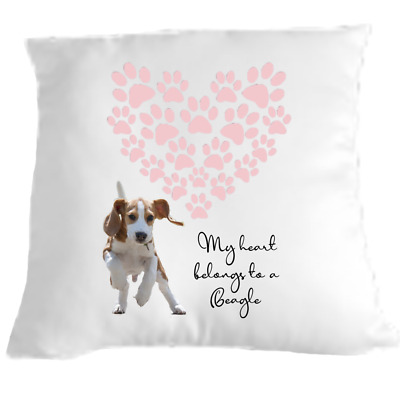 Beagle Cushion Dog Lovers Gift For Valentines Day • 9.99£