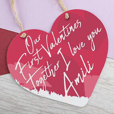 AU7.36 • Buy Personalised Valentines Day Hanging Sign Anniversary Gift For Him Gifts Plaque