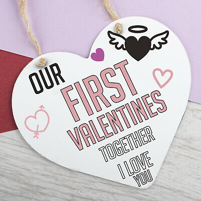 AU7.36 • Buy First Valentines Day Hanging Sign For Men Anniversary Gift For Him Gifts Plaque