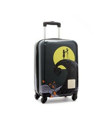 New Disney Store Nightmare Before Christmas Rolling Luggage Cabin Baggage Case • 54.99£