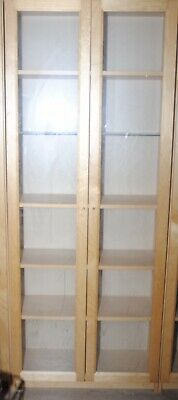 Double Ikea Billy Display Cabinet With Oxberg Glass Doors & 1 Glass Shelf • 50£