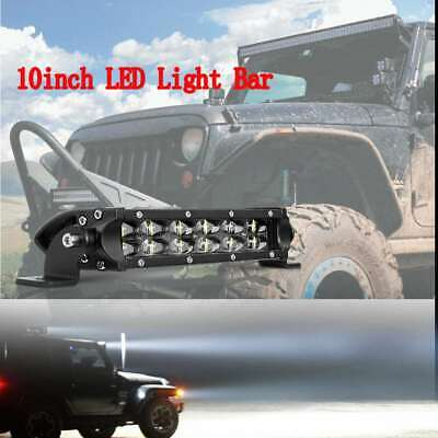 AU35.99 • Buy 8inch LED Light Bar Single Rows Spot Flood Combo Work SUV Driving Lamp OffRoad