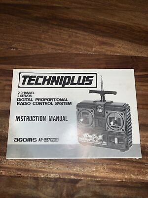 Acoms Instruction Manual For Techniplus Ap-227 MkIII • 12.99£