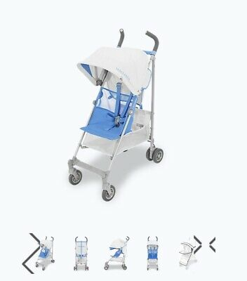 View Details NEW Maclaren Silver / Marina Blue Volo Pushchair / Stroller Boxed Inc Raincover  • 99.99£