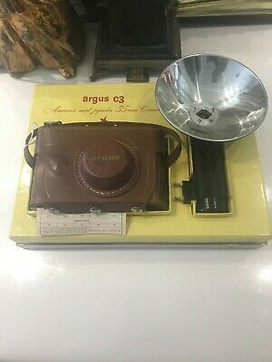 Old Stock New With Papers And Box Argus C3 Camera And Flash  • 143.04£