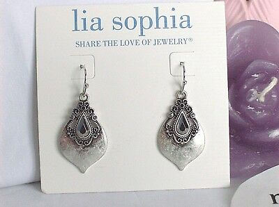 $ CDN16.24 • Buy Gorgeous Lia Sophia POSH Dangle Earrings, Cut Crystals, NWT
