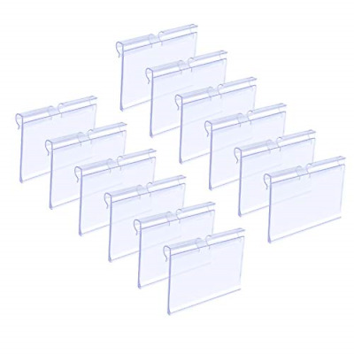 £13.85 • Buy Matogle 70pcs Clear Plastic Label Holders Sign Display Holder For Retail Price