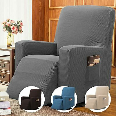 AU16.99 • Buy Stretch Recliner Cover Thick Soft Jacquard Recliner Chair Slip Cover Washable