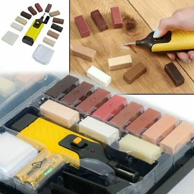 19pcs Laminate Floor Worktop Furniture Repair Kit Wax System For Chips Scratches • 11.93£