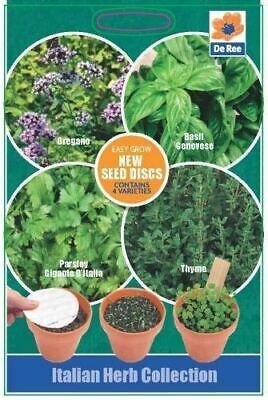 £1.99 • Buy SEED DISC Collections - ITALIAN HERB Seeds - OREGANO, BASIL, PARSLEY & THYME