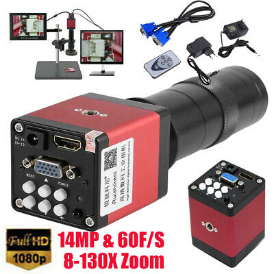 £59.99 • Buy 14MP HDMI VGA HD Industry 60F/S Video Microscope Camera With Remote Control Red