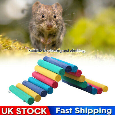 Pet Wooden Bridge Hamster Guinea Pig Rat Colorful Ladder House Playing Toys • 6.59£