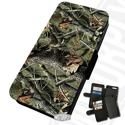 Printed Faux Leather Flip Phone Case For IPhone - Real-Tree-Camouflage • 9.75£