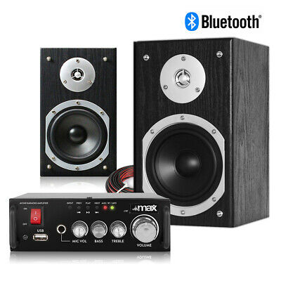 £76 • Buy HiFi Speakers And Stereo Amplifier With Bluetooth, 5  Home Audio Music System