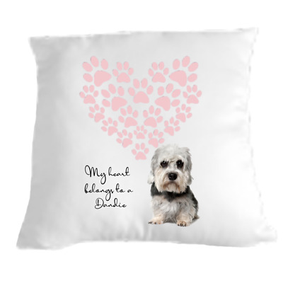 £9.99 • Buy Dandie Dinmont Terrier Cushion Dog Lovers Gift For Valentines Day