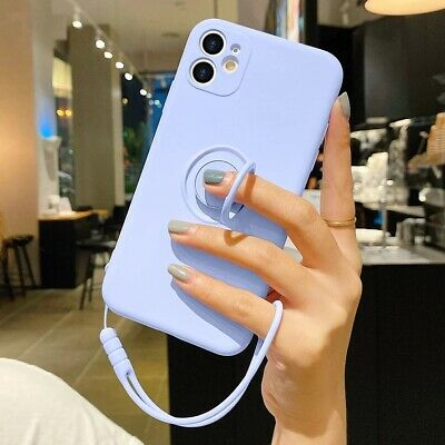 AU4.75 • Buy For IPhone12 Pro Max XS 11//7/8/ Ring Stand Case Shockproof Liquid Silicone Case